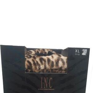 INC International Concepts Plush Bow Clog Slippers